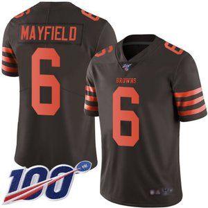 Youth Browns Baker Mayfield 100th Season Jerseys